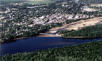 Aerial view of Portage, Wisconsin