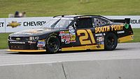 The No. 21 driven by Brendan Gaughan at Road America in 2013