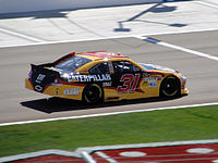 Burton in the No. 31 at Las Vegas in 2012. Burton's final four wins came with RCR