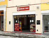 A Burger King franchise adapted to operate in the historic district of Oaxaca, Mexico