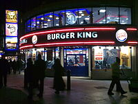 Burger King restaurant in Leicester Square, London, England