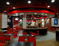 An example of the 20/20 concept interior at a Burger King in Cork, Ireland