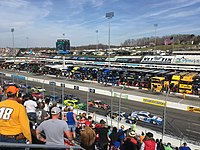 Brad Keselowski leads the STP 500 at Martinsville Speedway in March, a race he wins