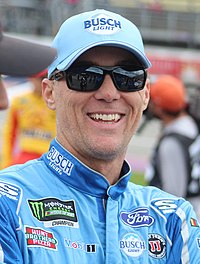 Kevin Harvick, finished 7 points behind Kyle Busch in third place.