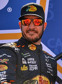 Martin Truex Jr., finished 5 points behind Kyle Busch in second place.