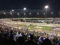 Kyle Busch leads the Toyota Owners 400 at Richmond Raceway in April