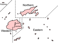 A map of Fiji's administrative divisions