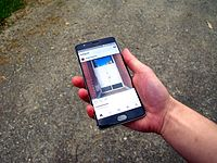 The Instagram app, running on the Android operating system