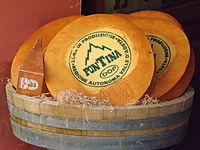Fontina cheese from Valle d'Aosta