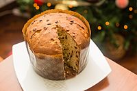 Panettone is a traditional Christmas cake