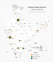 Busiest Indian airports (2015-16)
