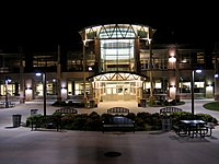 Eastway Center at night