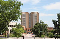 Main Library via Esplanade, which extends from College Towers Apartments to the downtown area of the city of Kent