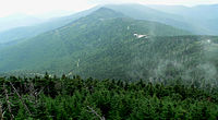 View from Mount Mitchell. At 6684 ft, Mount Mitchell in North Carolina is the highest peak east of the Mississippi River