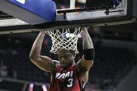 Wade's pre-game ritual consisted of doing pull-ups at the rim.