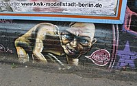 A graffiti depiction of Gollum on the East Side Gallery of the Berlin Wall (2008)