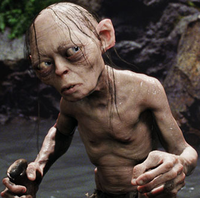 Gollum was voiced and performed by Andy Serkis in Peter Jackson's live-action version of The Lord of the Rings.