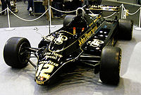 Mansell's Lotus 91 from on display