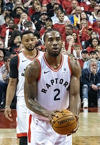 Leonard shooting a free throw in Game 2