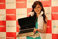 A Lenovo IdeaPad U350 at a launch event in Japan, 2009