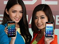 The Lenovo Vibe X smartphone at a launch event, 2014