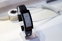 The Lenovo Smartwatch on display at the 2015 Mobile World Congress