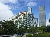 The Lenovo R&D center in Shenzhen, Guangdong