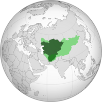 Expanded definition of Central Asia. Core definition that includes the five post-Soviet states in dark green. Afghanistan, the most commonly added country to Central Asia, in green. Regions that are sometimes considered part of Central Asia in light green.