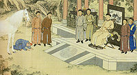 Tartar prostrating before Qianlong Emperor of China (1757).