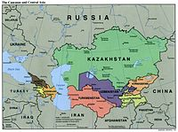 Political map of Central Asia (2000)