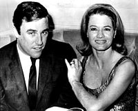 With his second wife, actress Angie Dickinson, in 1965