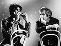 Bacharach with Stevie Wonder in the 1970s