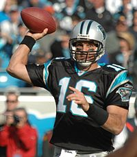 Vinny Testaverde with the Carolina Panthers in 2007.