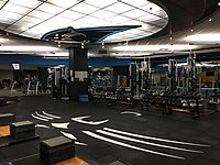 The team's weight room inside of Bank of America Stadium.