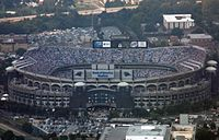 An exterior view of Bank of America Stadium as seen in 2006.