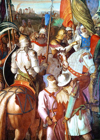 Umayyad army invades France after conquering the Iberian Peninsula