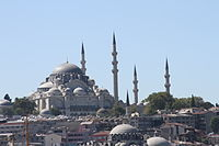 The Suleiman Mosque (Süleymaniye Camii) in Istanbul was built on the order of sultan Suleiman the Magnificent by the Ottoman architect Mimar Sinan in 1557.