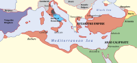 The eastern parts of the Byzantine empire conquered by Arabs
