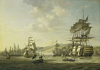 Bombardment of Algiers by the Anglo-Dutch fleet, to support the ultimatum to release European slaves, August 1816