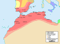 The Berber Almohad Caliphate at its greatest extent, c. 1212