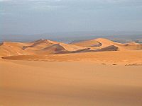 The Algerian Desert makes up more than 90% of the country's total area