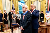 Penske receives the Presidential Medal of Freedom from Donald Trump in 2019