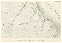 Plan of Odessa in 1794