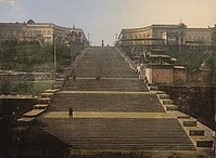 The 142-metre-long Potemkin Stairs (constructed 1837–1841)