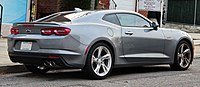 Rear view of a gray Camaro LT1 coupe