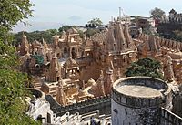 Palitana represents the city's symbolic function in the extreme, devoted as it is to Jain temples.