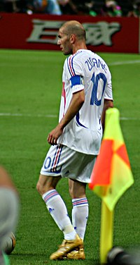 Zidane during the 2006 World Cup Final