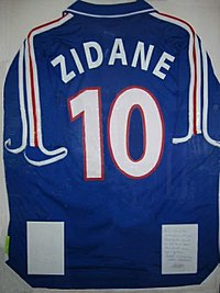 Zidane's France jersey from Euro 2000