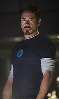 Robert Downey Jr. as Tony Stark, as depicted in the film Iron Man 3.