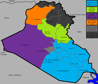 Election map showing the largest list in every governorate